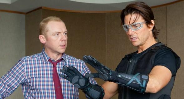 Simon Pegg and Tom Cruiser